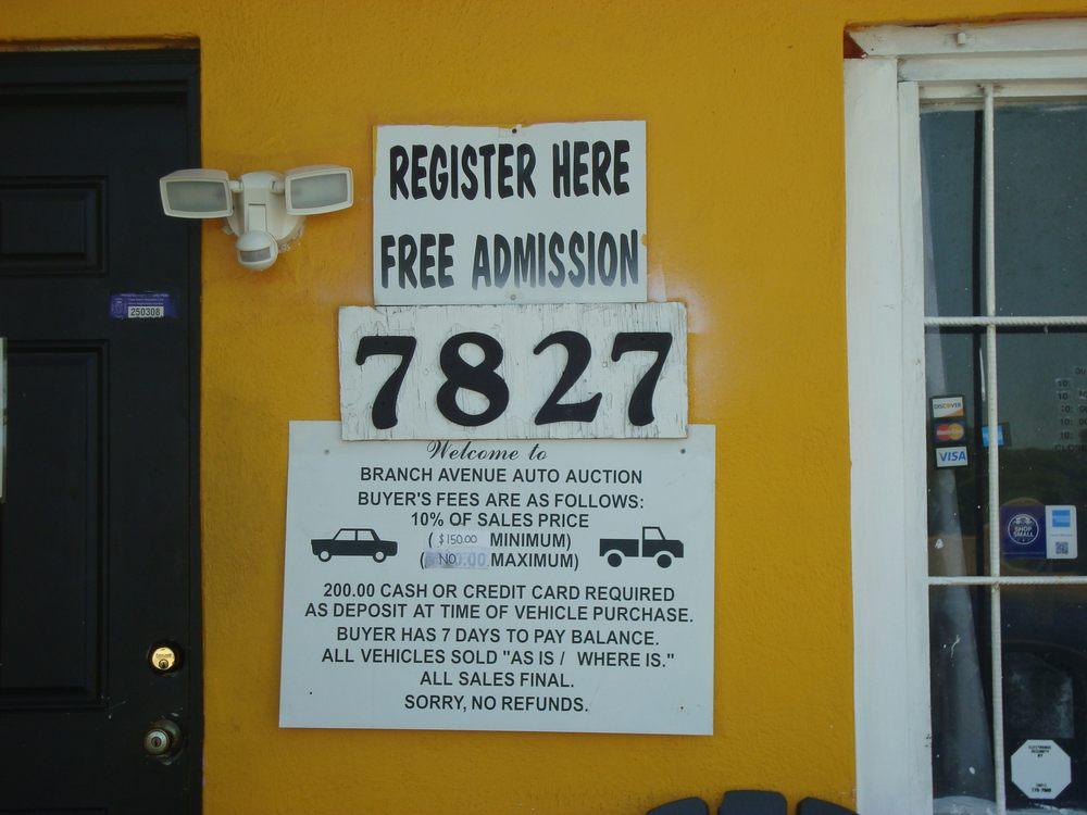 Branch Avenue Auto Auction