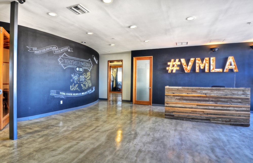 Source Creative Office Interiors- reception area for Vayner Media ...