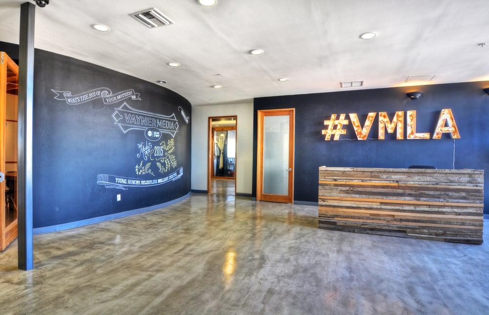 Source Creative Office Interiors- reception area for Vayner Media ...