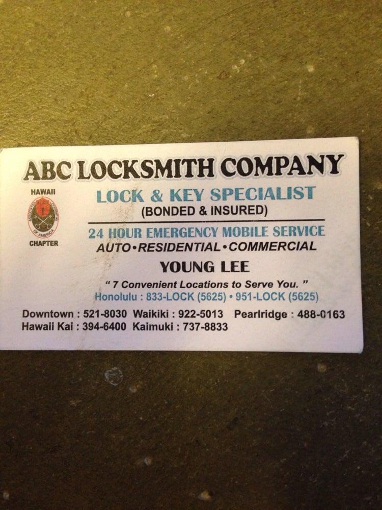 A ABC Locksmith Company: Aiea, HI