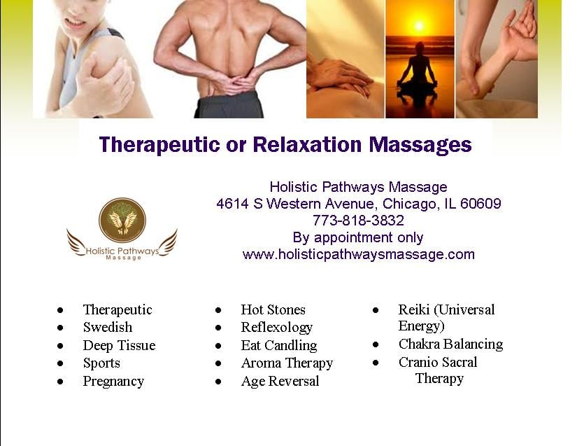Holistic Pathways Massage - Reflexology - 2735 W 43rd St, Brighton Park,  Chicago, IL - Phone Number - Yelp