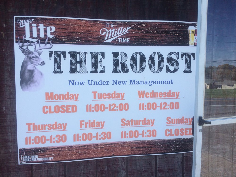 The Roost: 5965 Susquehanna Trl, Watsontown, PA