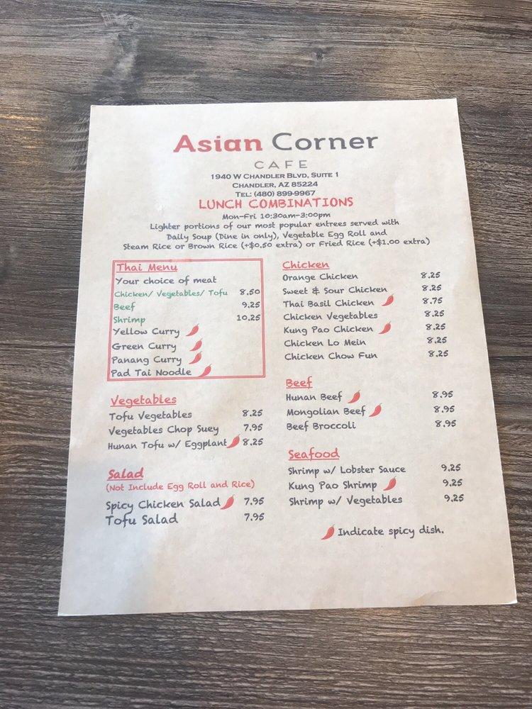 asia corner markaryd meny