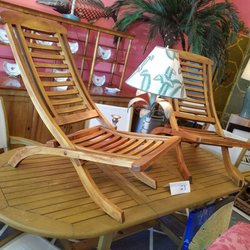 Photo Of Great Stuff   Delray Beach, FL, United States. Folding Teak Chairs  ...