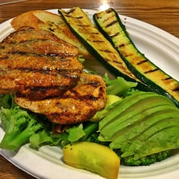 Looks like chicken but that 39 s actually grilled salmon for Fish dish sherman oaks