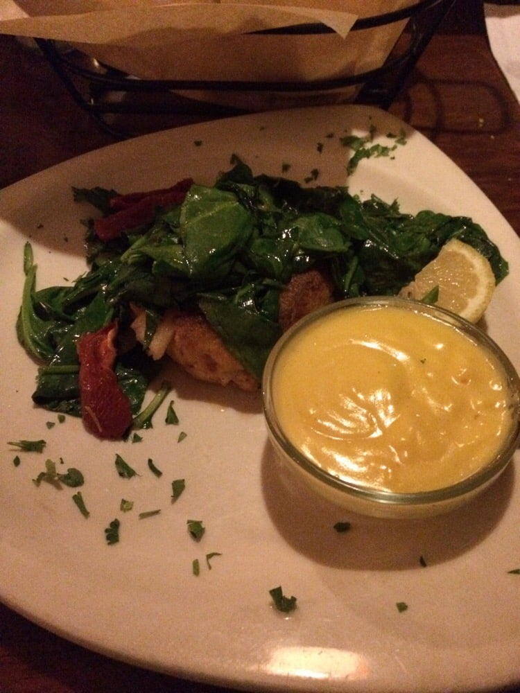 Lobster cake with hollandaise yelp for Mad fish restaurant