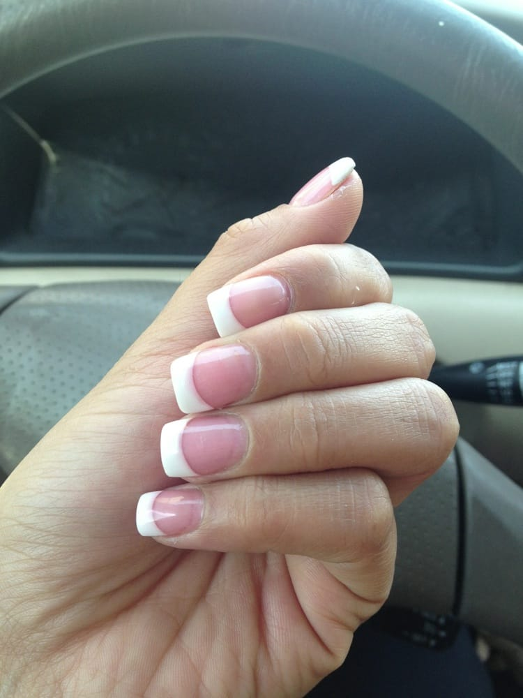 Classic Pink and White French Manicure by Linh, - Yelp