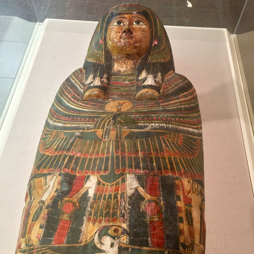 Mummy case of nes khonsu pa khered egyptian 1069 664 b c for Wine painting san antonio