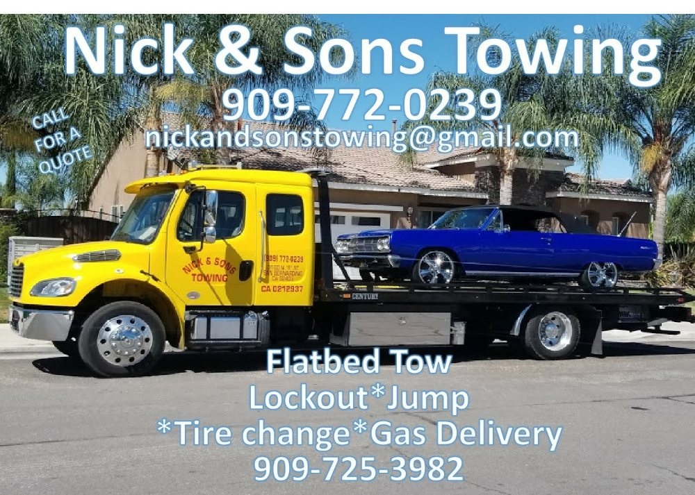 Towing business in Highland, CA