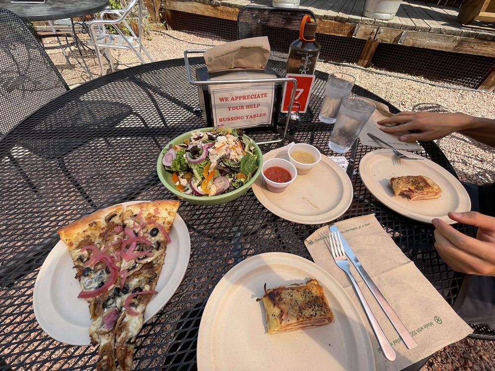 Food from Hot Tomato Pizzeria