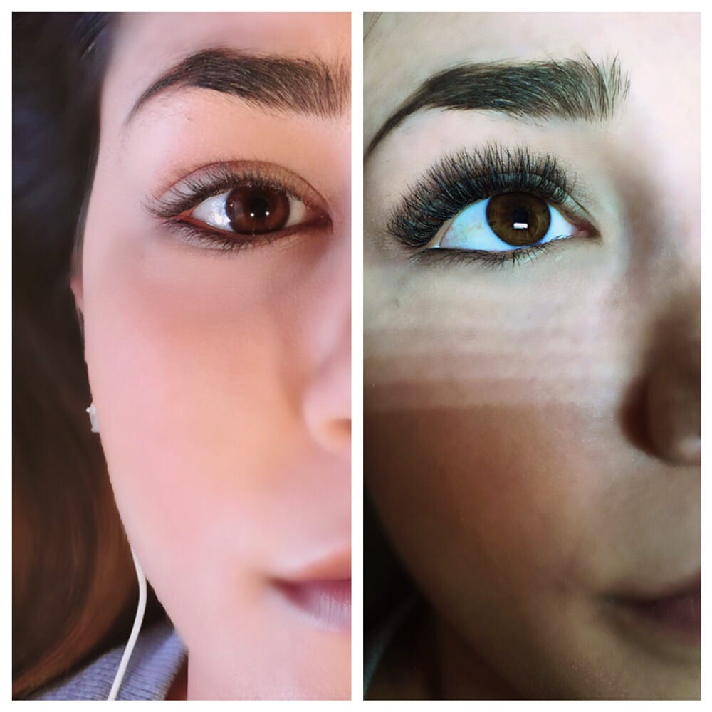 Before And After Of Borboletas Volume Eyelash Extensions Yelp