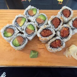 New City Sushi - New City, NY, United States. Spicy Tuna and Salmon Avocado