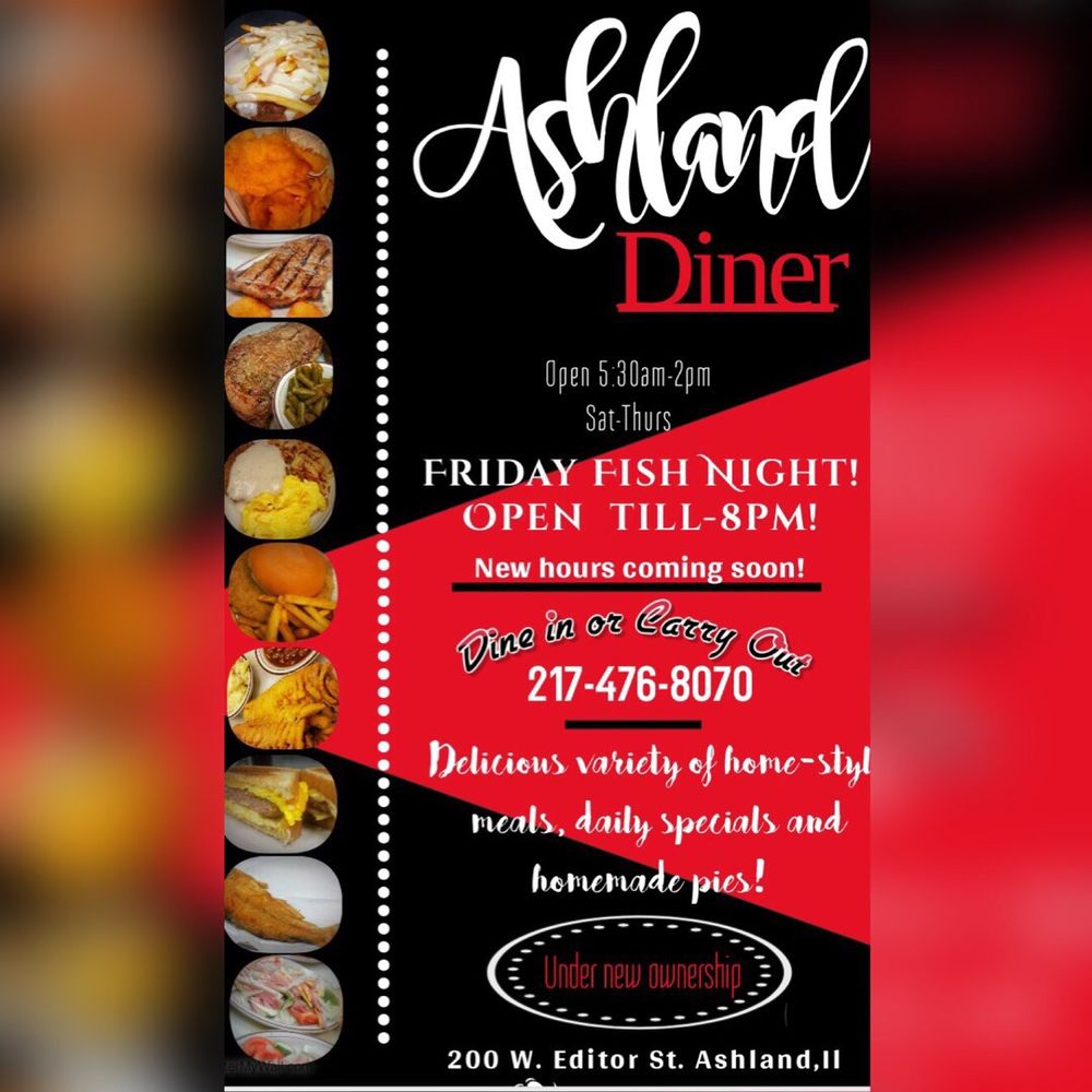 Ashland Diner: 200 West Editor St, Ashland, IL