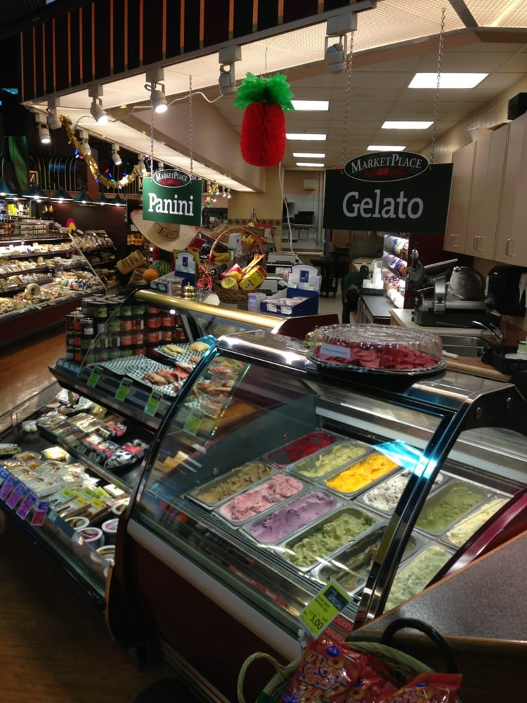MarketPlace IGA - Vancouver, BC, Canada. Cute gelato and panini section