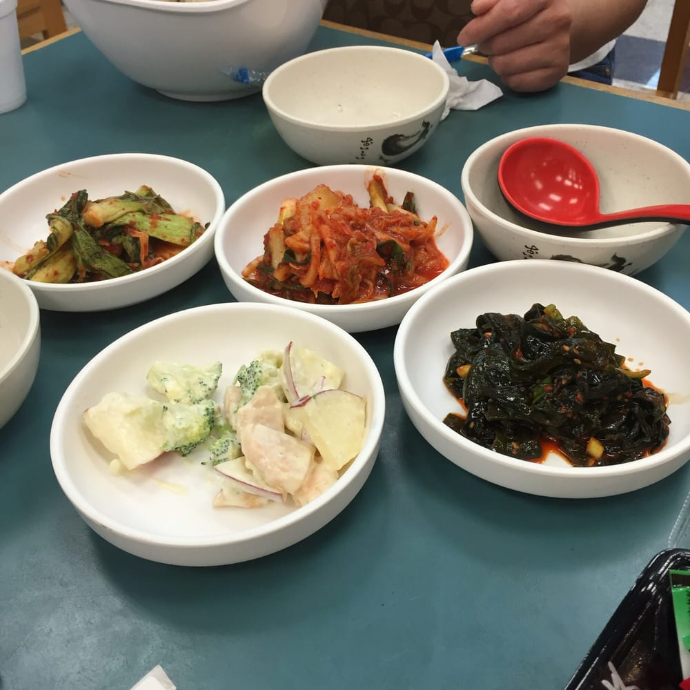 Banchan From The Food Court With Table Service Yelp