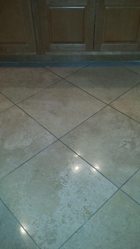 Before Restoring A Travertine Floor Clean Wet Diamond Grind To