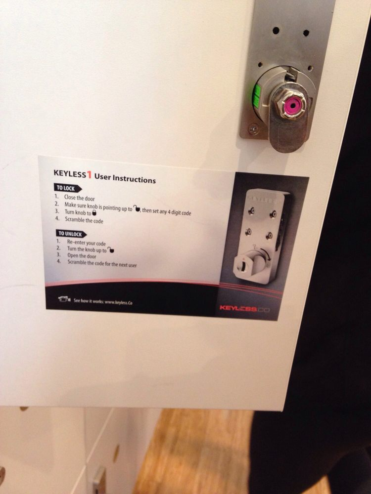 Lock Instructions Tip Remember Your Code And Locker Especially