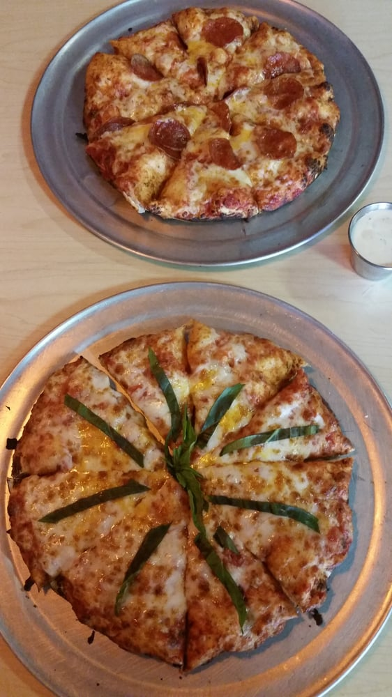Cheese And Basil Pizza And Pepperoni And Cheese On The Other Amazing Pizza And Awesome