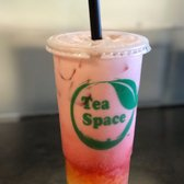 Photo of Tea Space Sunset Park - Las Vegas, NV, United States. A pretty strawberry milk tea that my friend ordered.