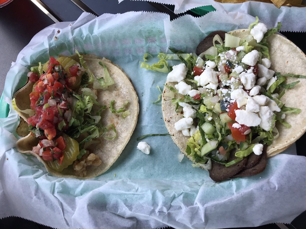 Food from White Duck Taco Shop