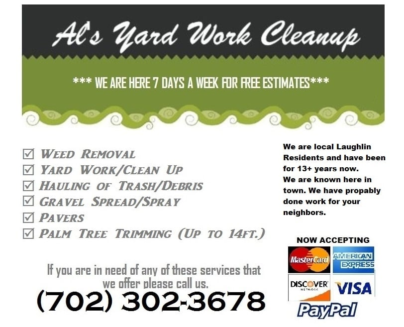 Al's Yard Work Cleanup: 3038 Soledad Dr, Laughlin, NV