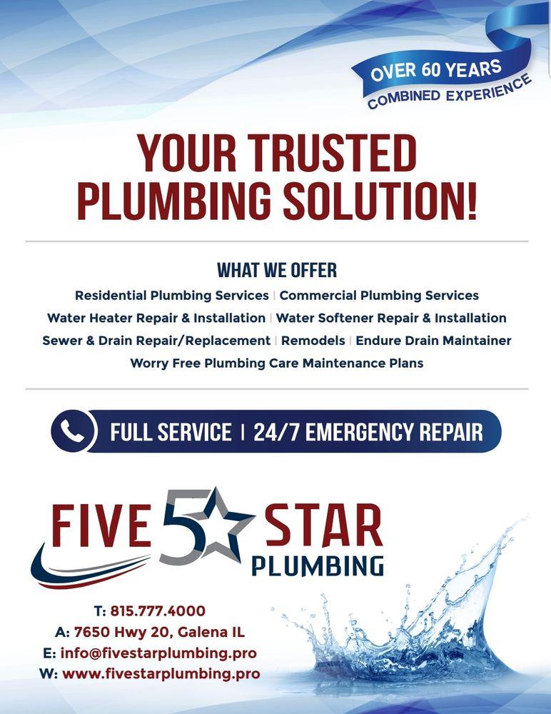 Five Star Plumbing: 7650 US Rte 20, Galena, IL