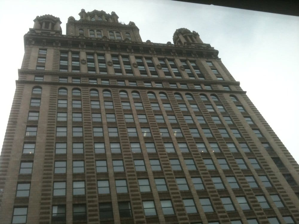 View from window seat on 5th floor looking up across lake for Hotel monaco chicago