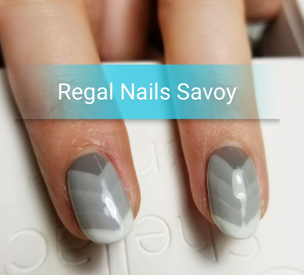 Hand painted ombre chevron deisgn with gel color on real nails - Yelp