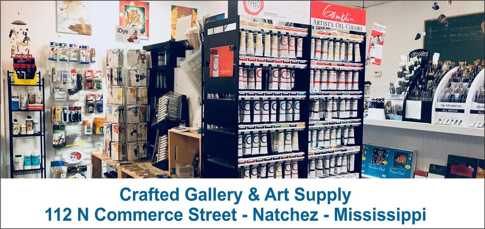 Crafted Gallery and Art Supply: 209 Franklin St, Natchez, MS