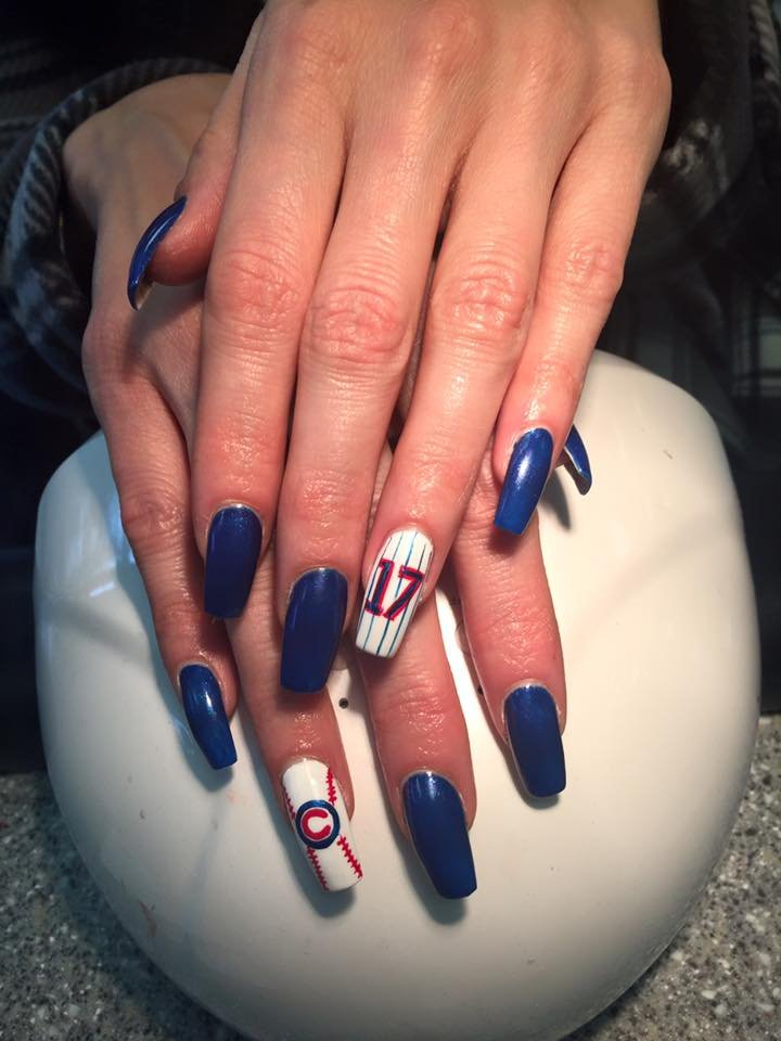 Cubbie Fever Nail Art By Jimmy - Yelp
