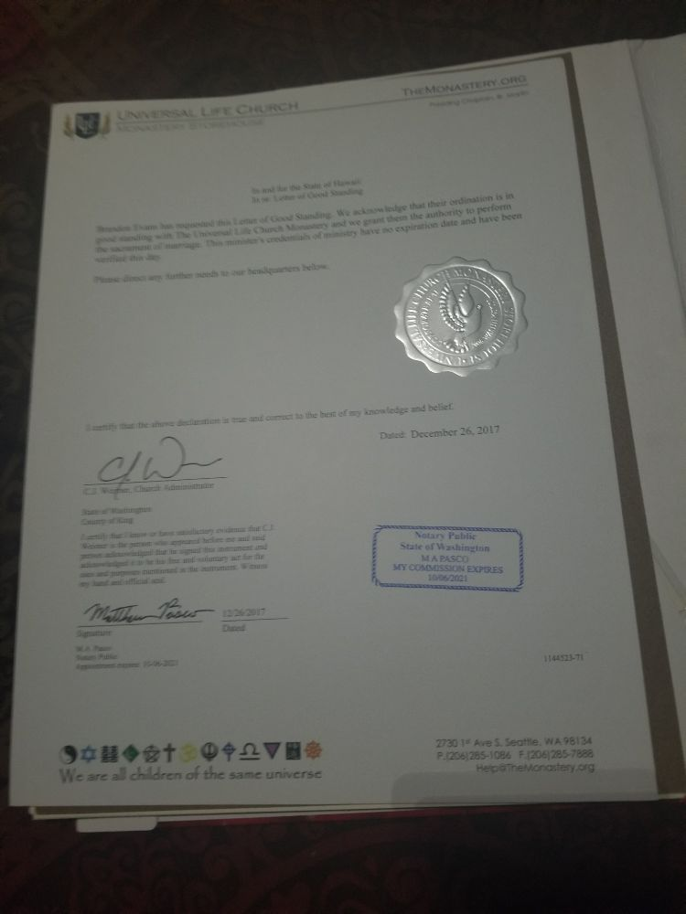 Ulc Letter Of Good Standing In And For The State Of Hawaii Yelp