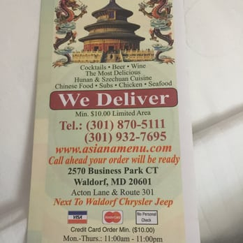 Chinese Food Restaurant In Waldorf Md