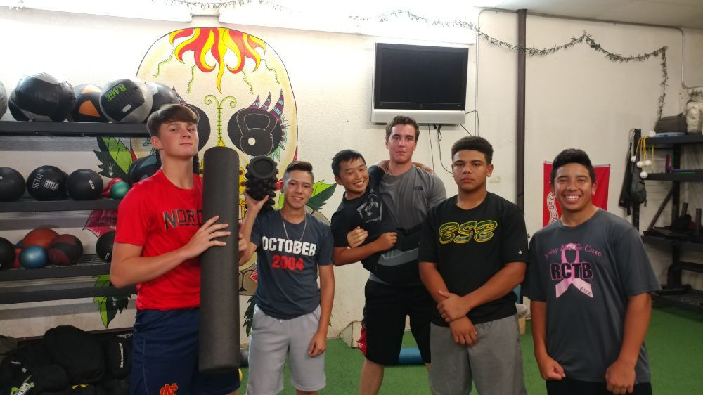Our High School baseball players getting ready to start their
