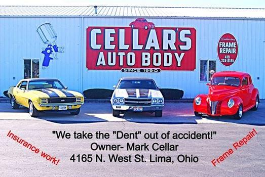 Cellar's Auto Body: 4165 N West St, Lima, OH