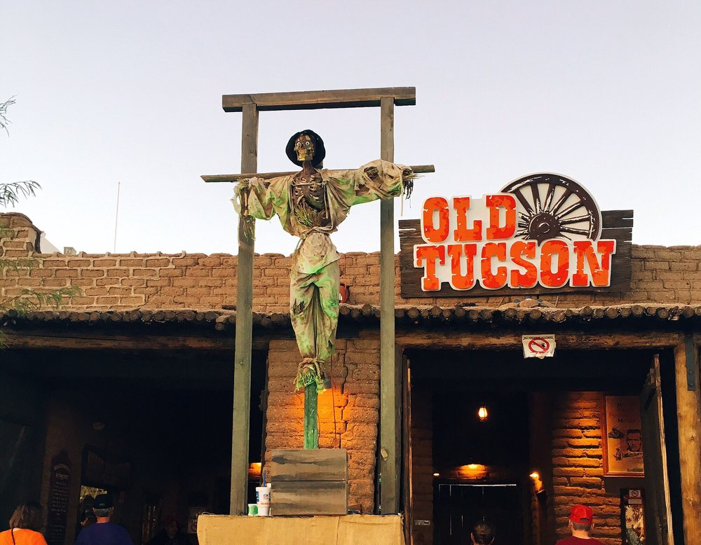 Nightfall at Old Tucson Studios