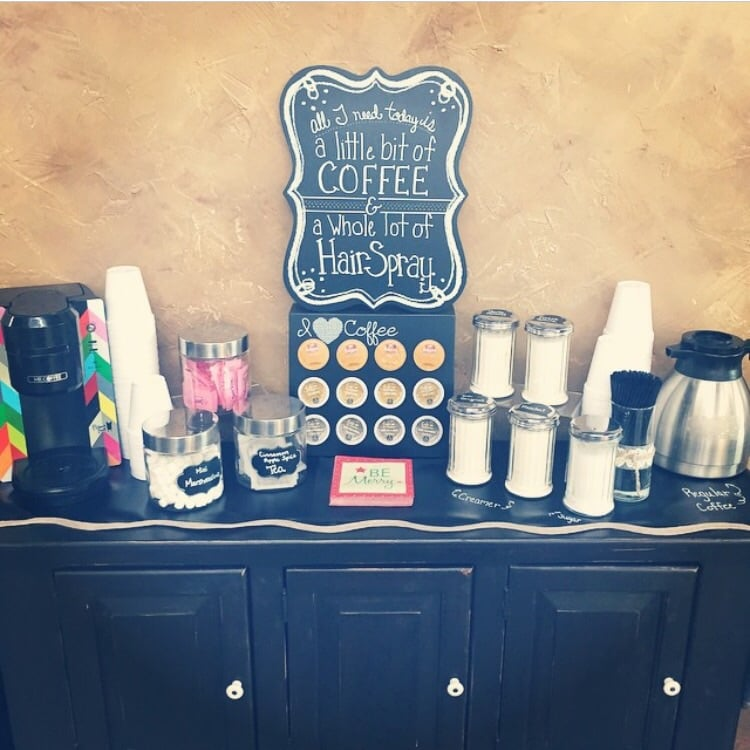 Complimentary coffee bar for guests yelp for A total concept salon