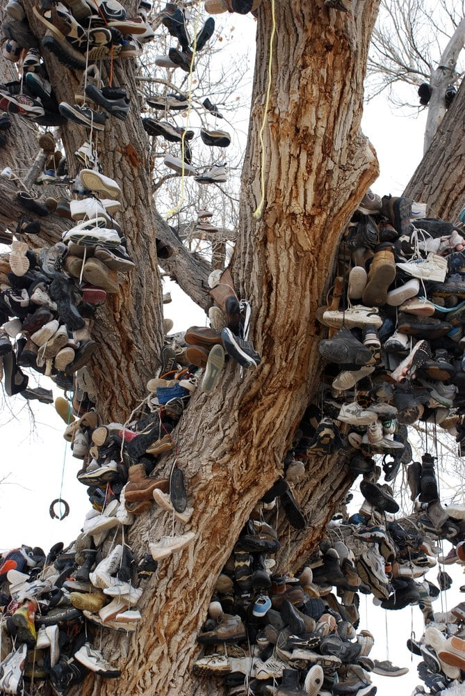 The Middlegate Shoe Tree: Hwy 50, Middlegate, NV