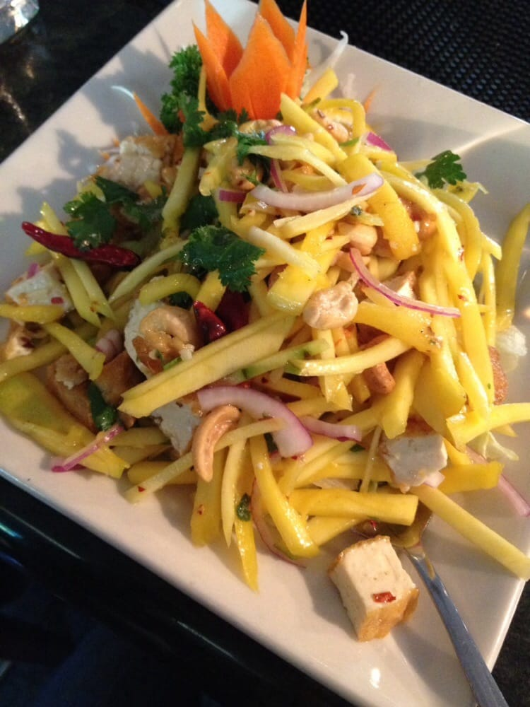 My all time favorite dish vegetarian spicy mango salad for Amarin thai cuisine