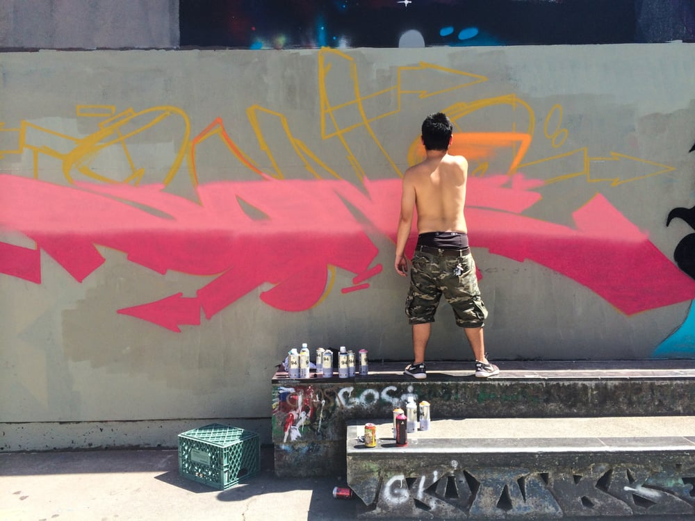 Flame-Blue spray paint  Simply bout that action, boss  - Yelp