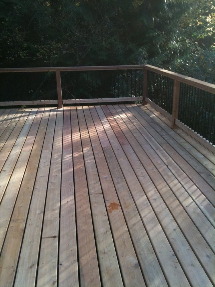 cedar deck and railing with black metal balusters yelp. Black Bedroom Furniture Sets. Home Design Ideas