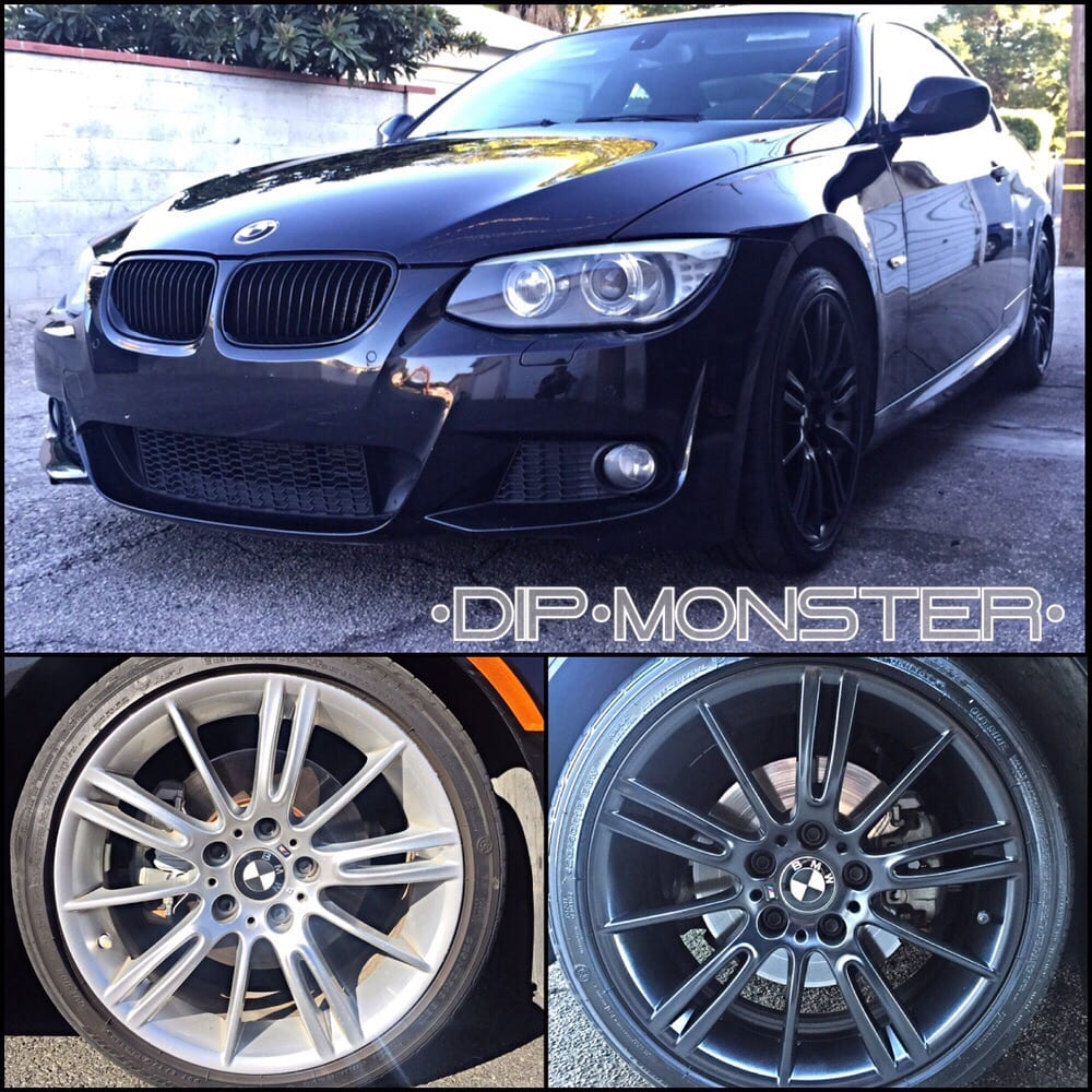 BMW 328i gloss black Plasti dipped rims - Yelp