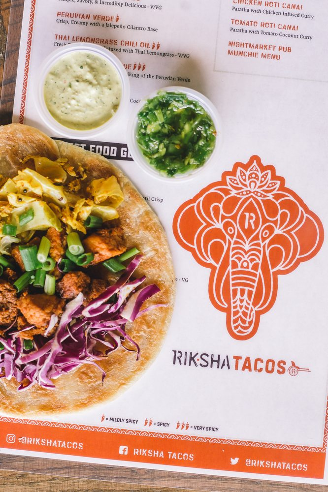 Food from Riksha Tacos