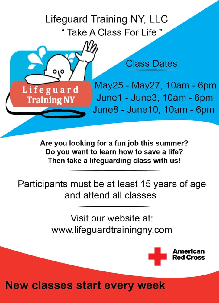 Lifeguard Training Ny First Aid Classes 181 Briarwood Crossing