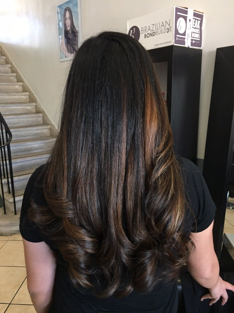 Highlights For The Very First Time On Dark Dark Hair Yelp