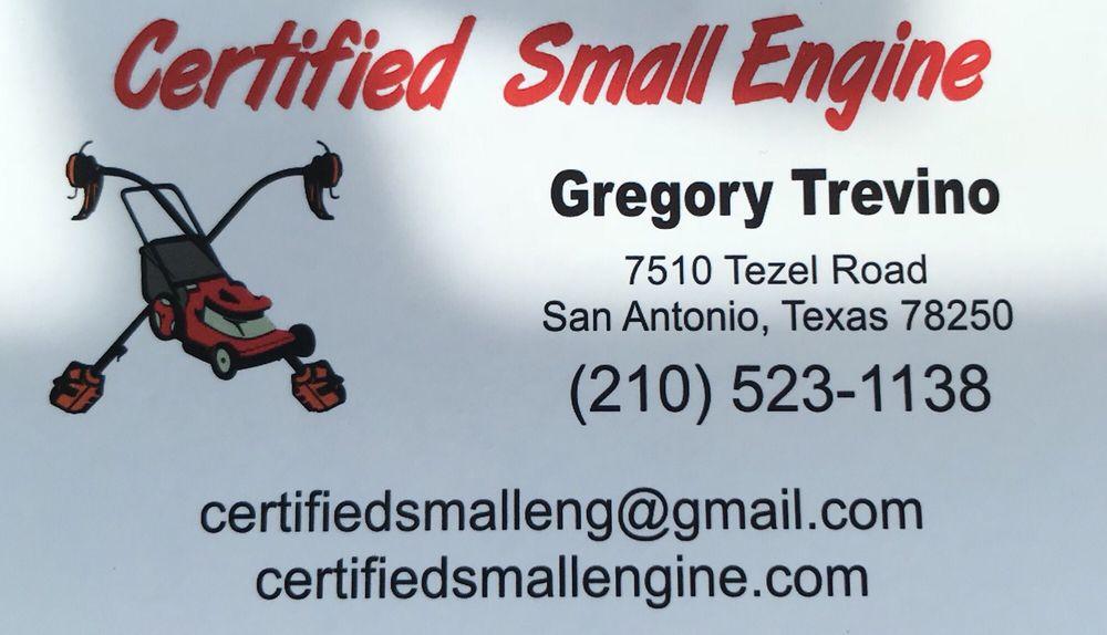 Certified Small Engine Farm Equipment Repair 7510