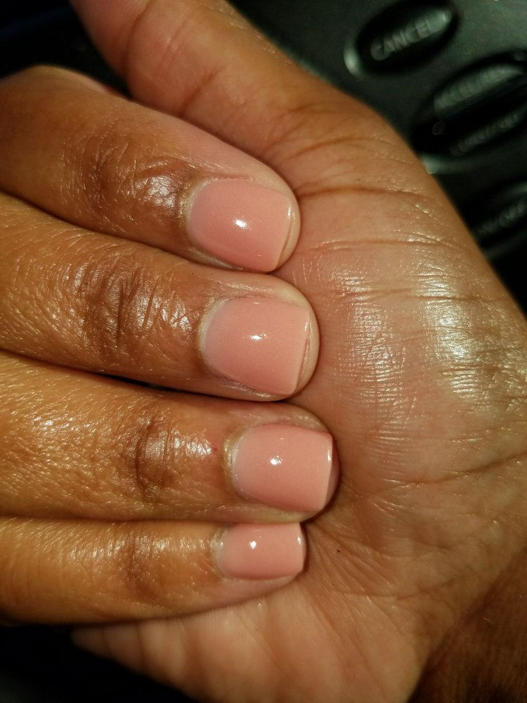 Dip nails $40 a little pricey but worth it my nails grew so much and ...