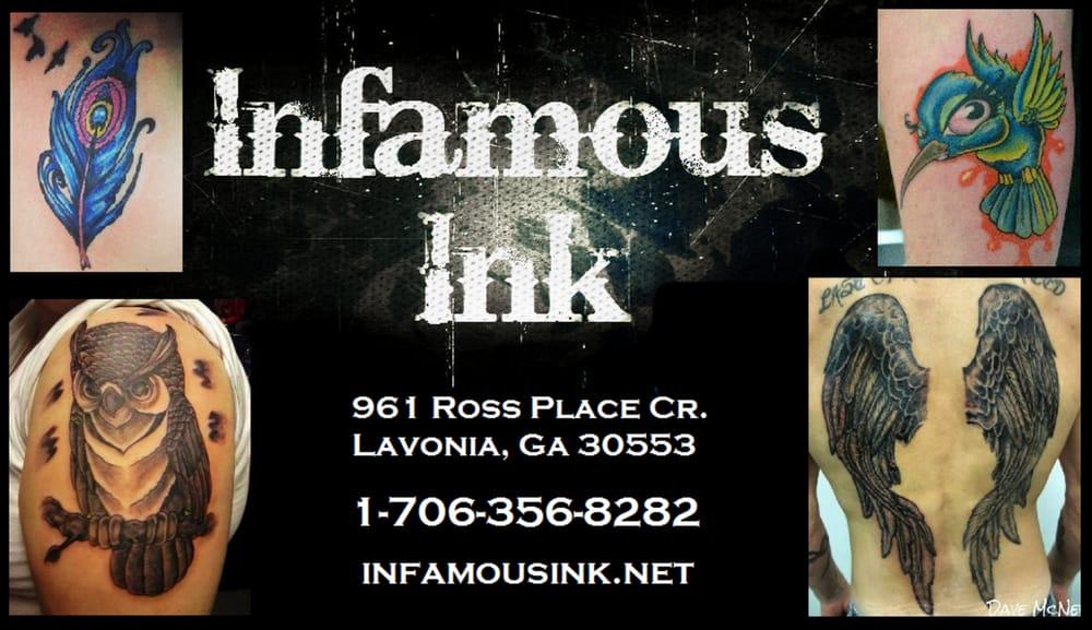 Infamous Ink: 3700 Atlanta Hwy, Athens, GA
