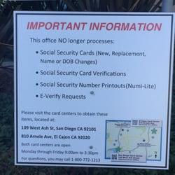 San Diego Social Security Card Center - Public Services