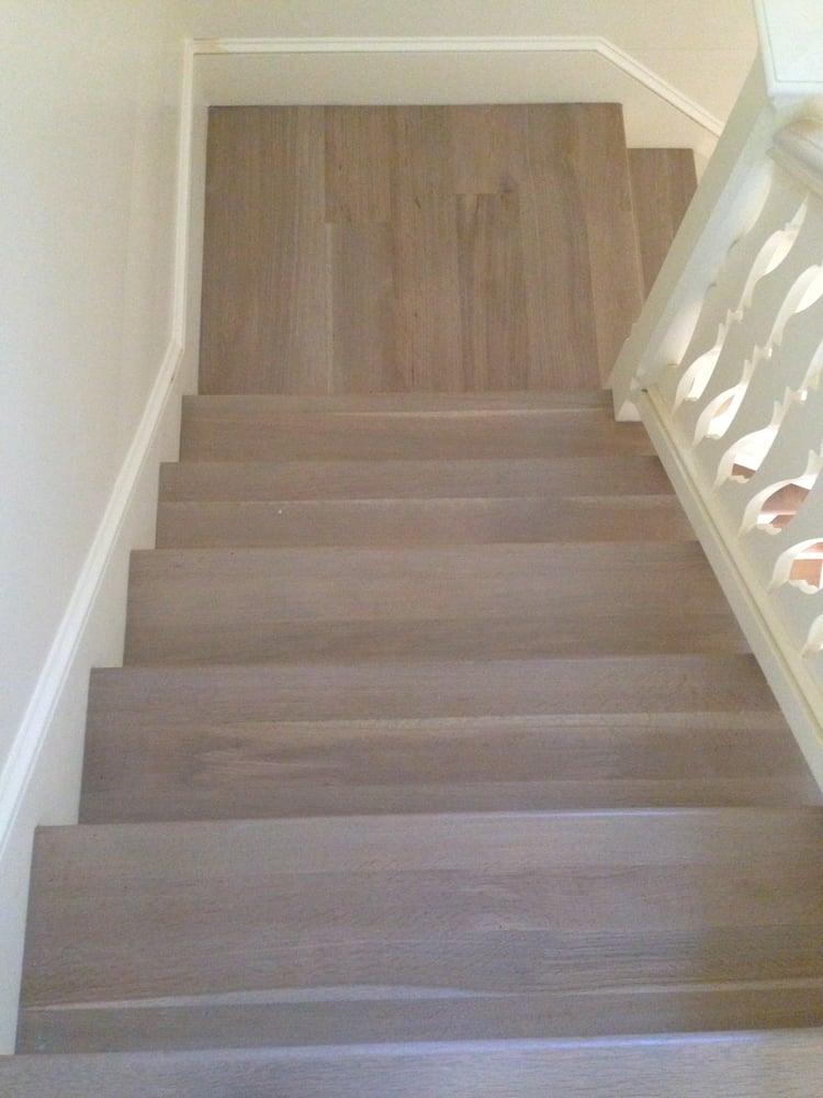 Pickled Oak Floor Refinish