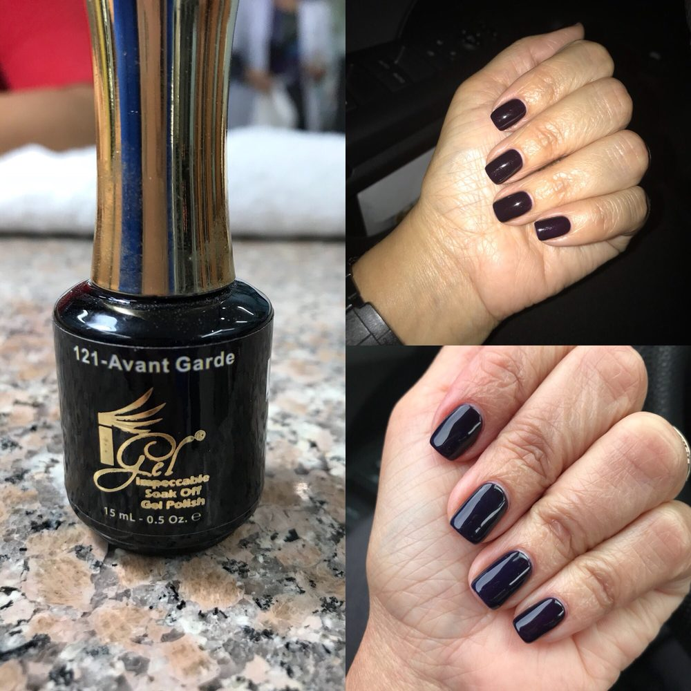 Thanksgiving nails ready. Deep purple that look black at night. 121 ...